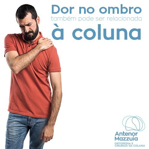 Dor no ombro também pode ser relacionada à coluna!