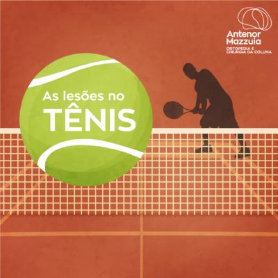 As lesões no tênis